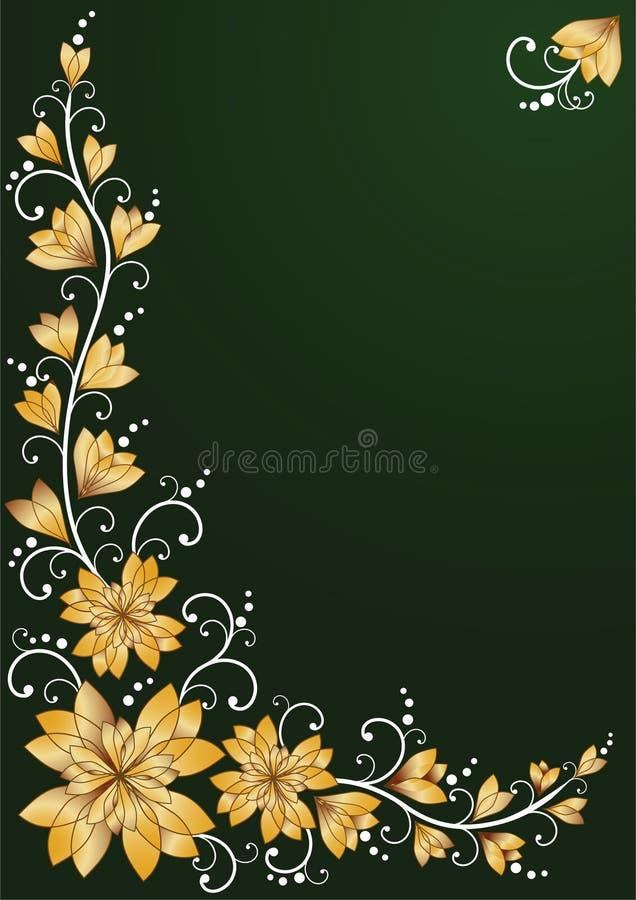 Fundos florais verticais. ilustração stock