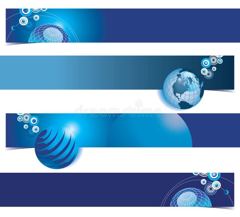 Fundos globais azuis ilustração stock