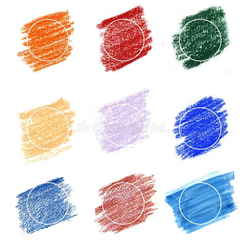 Fundos multicoloridos Frames2 ilustração do vetor