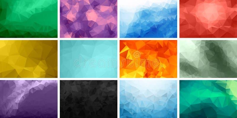 Fundos poligonais ilustração stock