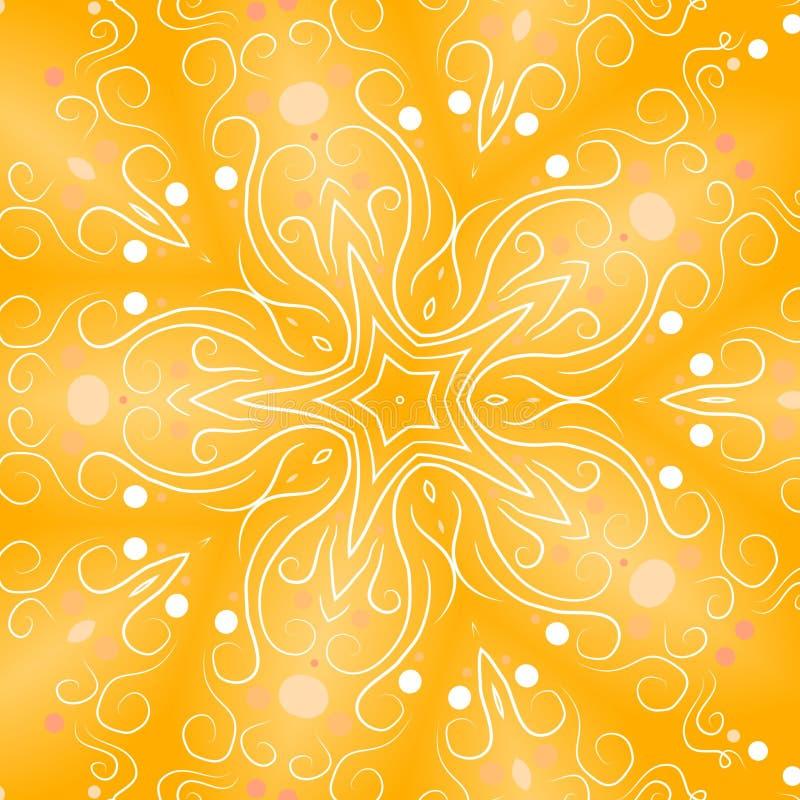 Fundos retros da estrela do ouro ilustração stock
