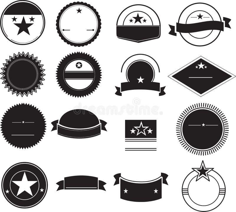 Fundos retros do logotipo ilustração royalty free