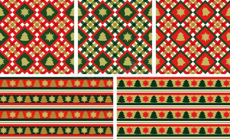 Fundos sem emenda do Natal ajustados ilustração royalty free
