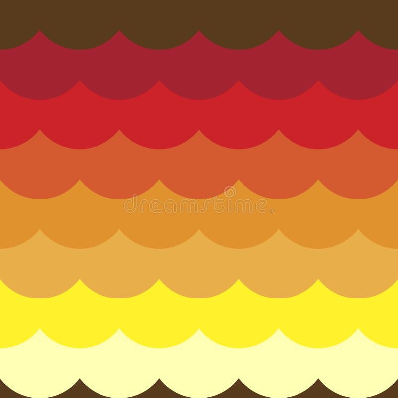 Fundos sem emenda do teste padrão do sumário colorido do contorno das ondas ilustração royalty free