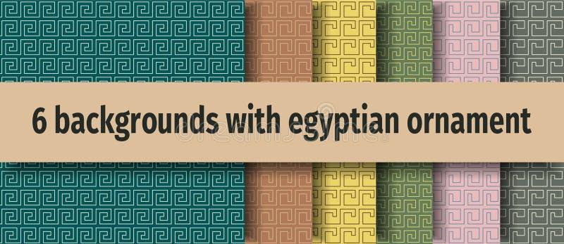 Fundos sem emenda egípcios antigos ilustração stock