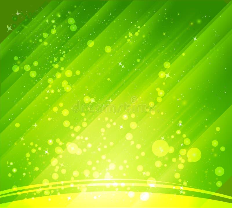 Fundos verdes abstratos ilustração royalty free