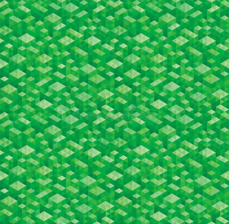 Fundos verdes geométricos ilustração do vetor