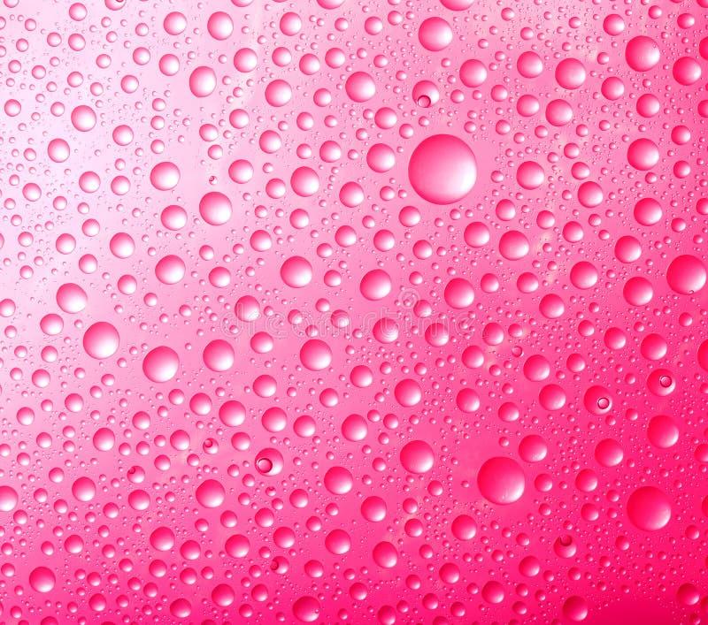 Fundos vermelhos abstratos. Waterdrops coloridos foto de stock royalty free
