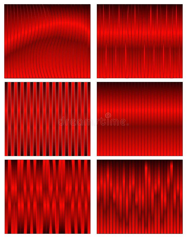 Fundos vermelhos da fita ilustração royalty free
