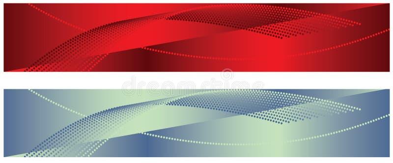 Fundos vermelhos e brancos ilustração do vetor