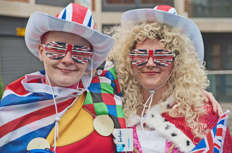 Fundraisers at Queen's Silver Jubilee royalty free stock photography