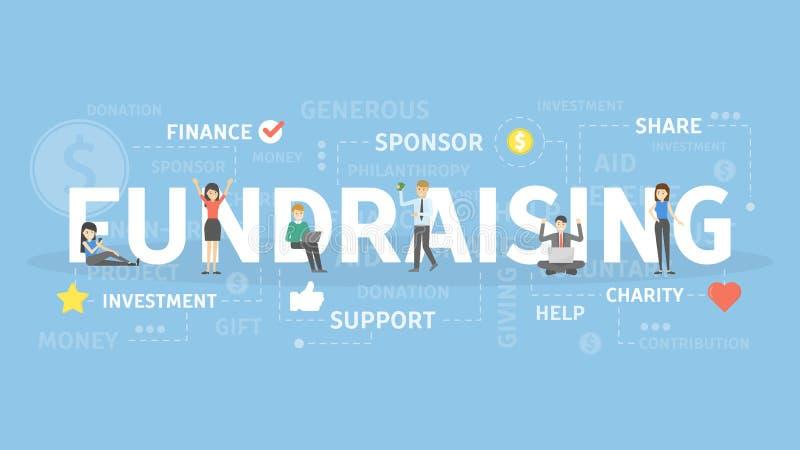 Fundraising иллюстрация концепции бесплатная иллюстрация