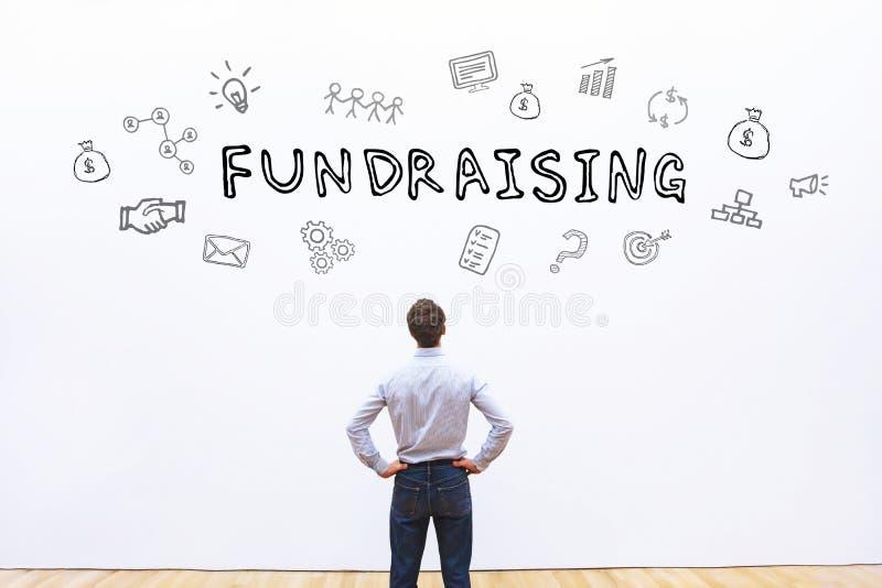 Fundraising begrepp royaltyfri bild