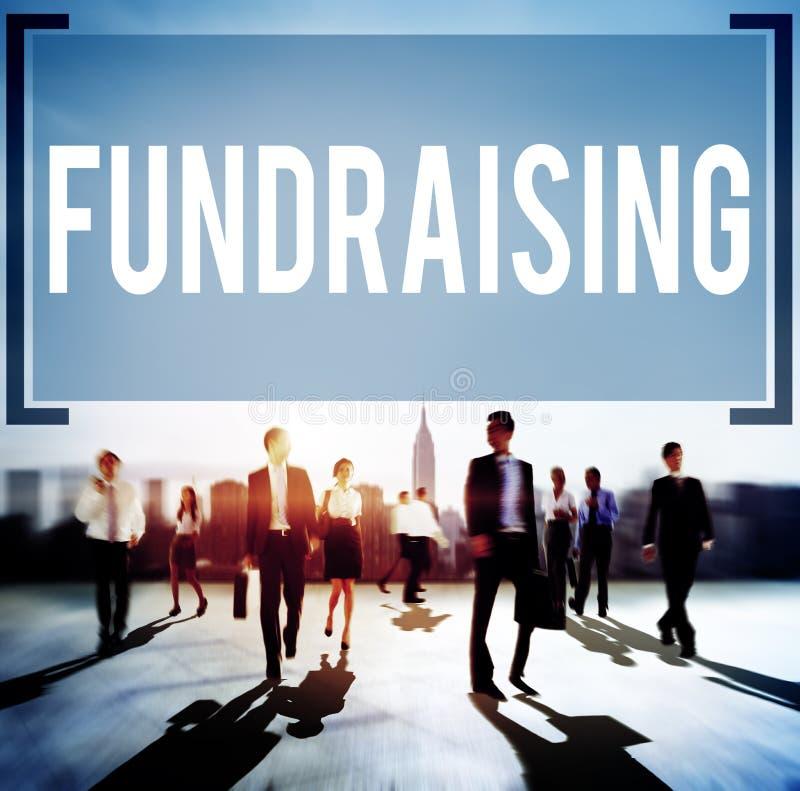 Fundraising begrepp för donation för finansieringfinansekonomi arkivbilder