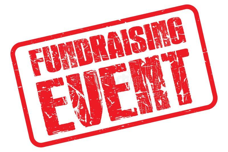 Fundraising händelsestämpel stock illustrationer