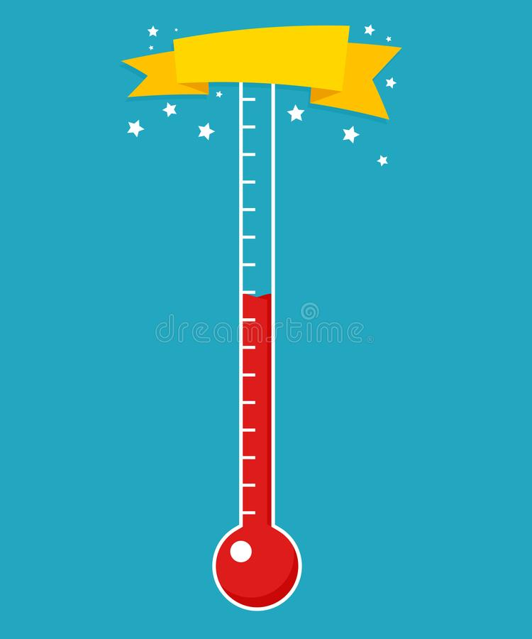 Free Fundraising Thermometer Template Royalty Free Stock Image - 118402236