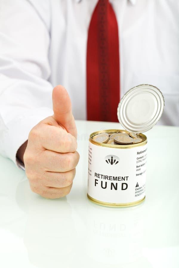 fundusz dobry mieć pomysł emerytura zdjęcie royalty free