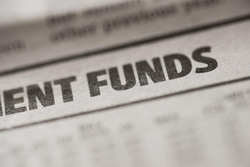 fundusze zdjęcie stock