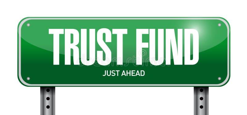 funduszu powierniczego drogowego znaka pojęcia ilustracja ilustracji