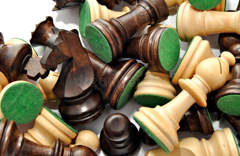funduszy szachowi kawałki fotografia royalty free