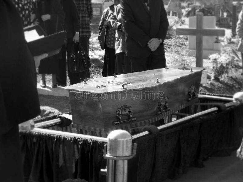 The Funeral. The last resting place stock images