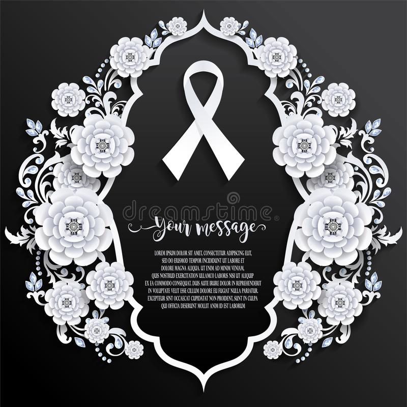 Funeral card templates royalty free illustration