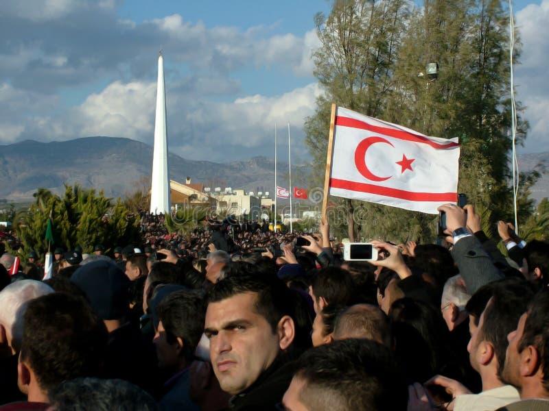 Funeral Ceremony of Rauf Denktas stock photos