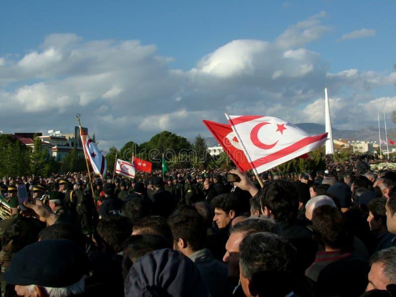 Funeral Ceremony of Rauf Denktas royalty free stock image