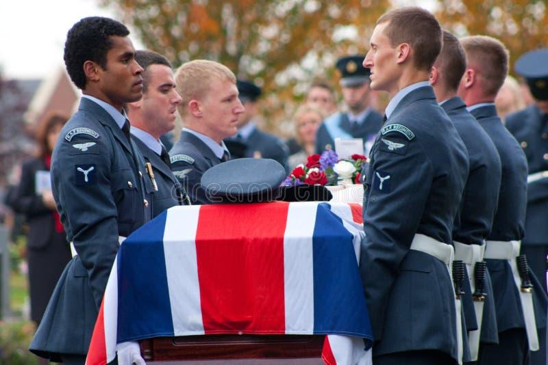 Funeral das forças armadas de Royal Air Force imagens de stock
