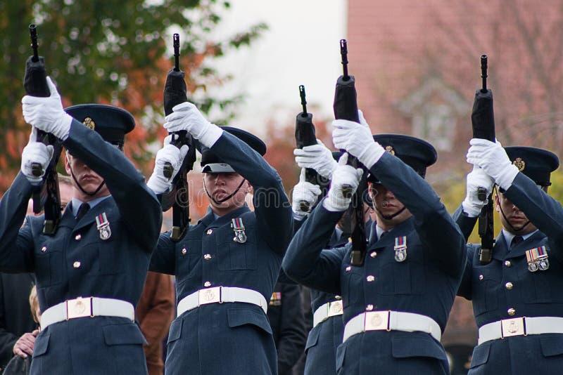 Funeral das forças armadas de Royal Air Force fotos de stock