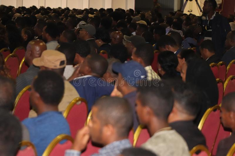 Funeral service of Former Ethiopian President Dr. Negasso Gidada. Funeral of Former Ethiopian President Dr. Negasso Gidada that was attended by thousands of stock photography