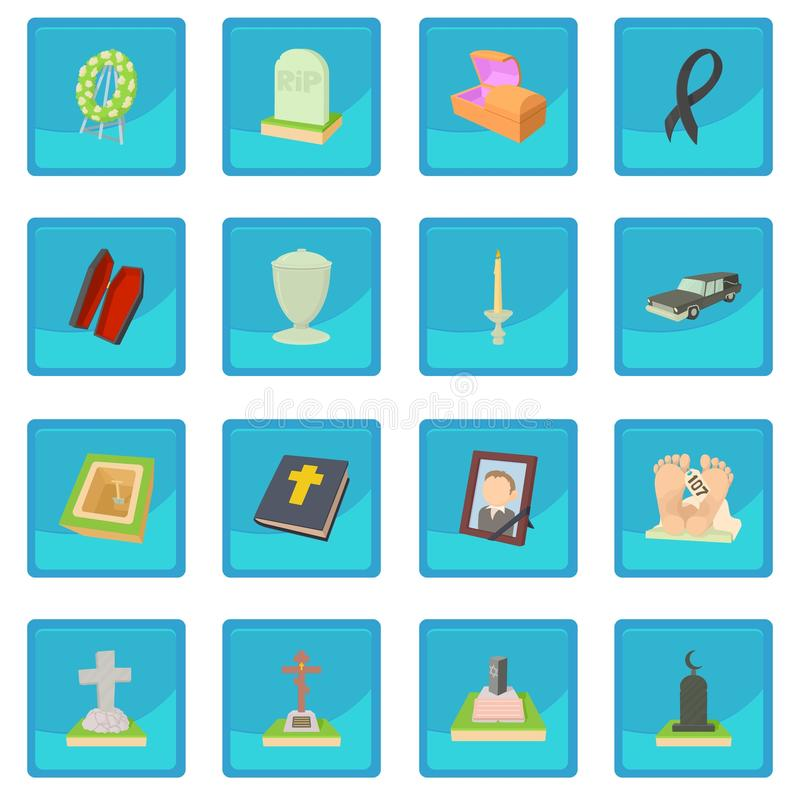Funeral icon blue app. For any design vector illustration royalty free illustration