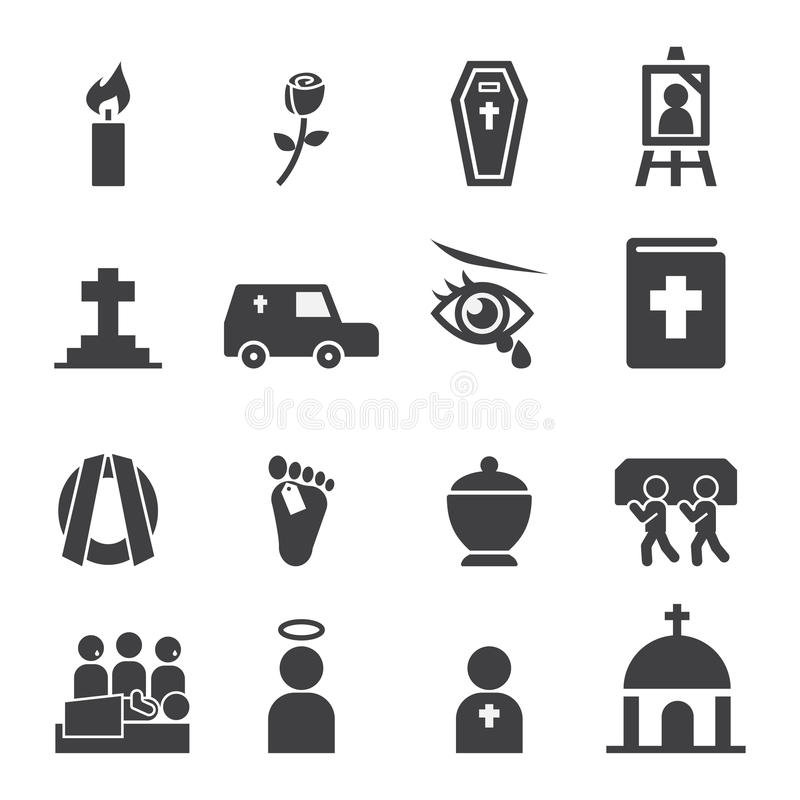 Funeral icon vector illustration