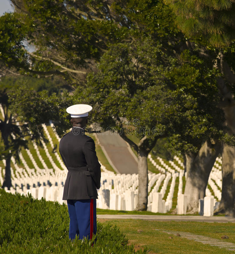 Download Marine In National Military Cemetery Editorial Photography - Image: 30283682