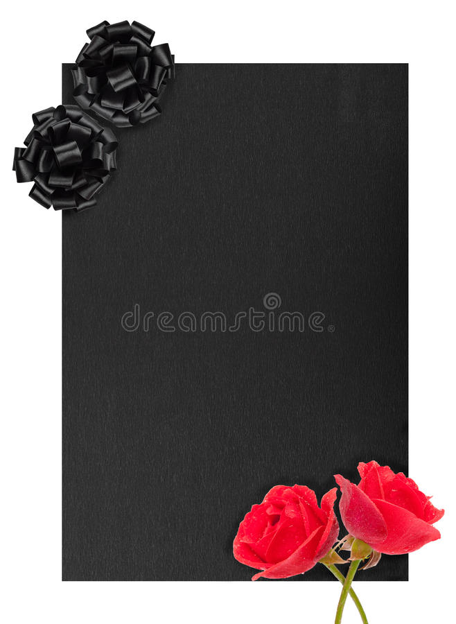 Funeral notice. Black background for design royalty free stock photo