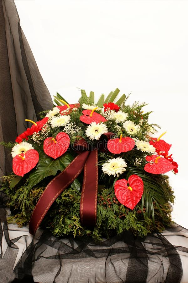 Funeral wreath royalty free stock images