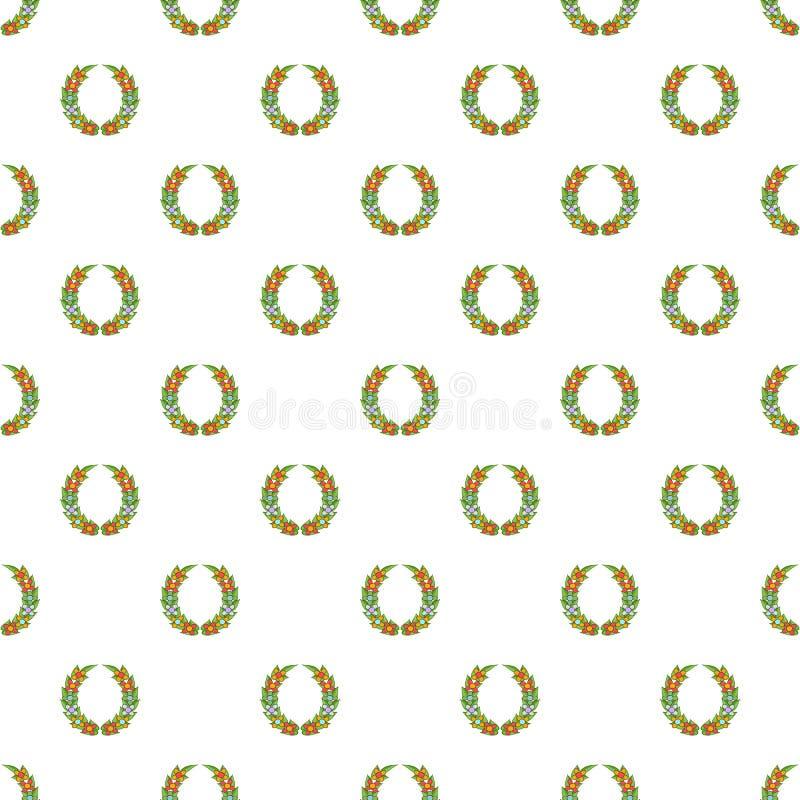 Funeral wreath pattern, cartoon style vector illustration