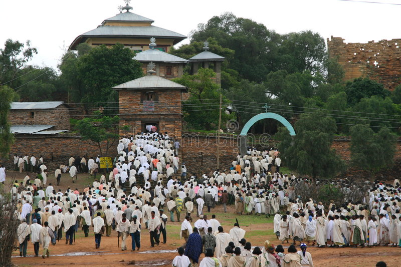 Download Funeral in Yeha, Ethiopia stock image. Image of believers - 7040381