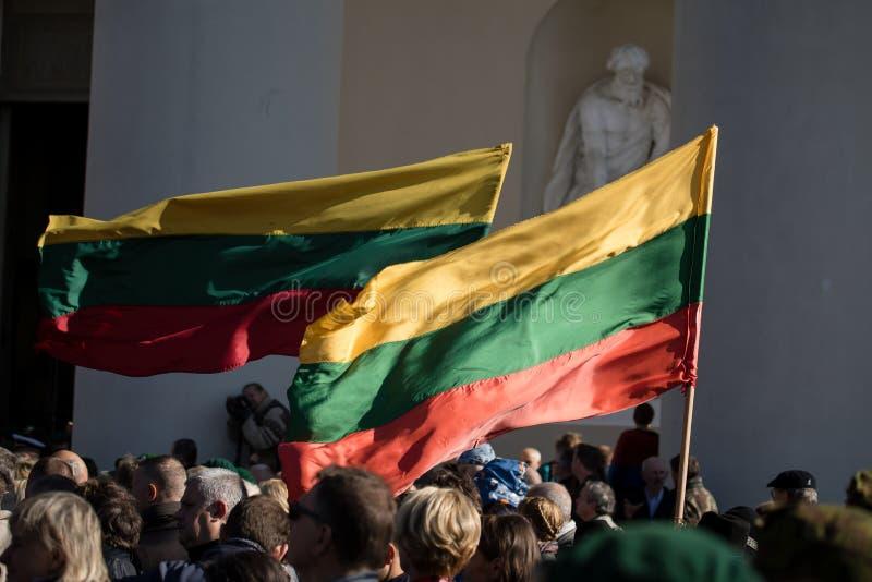 Funerale del generale di brigata Adolfas Ramanauskas-Vanagas in Viln fotografia stock