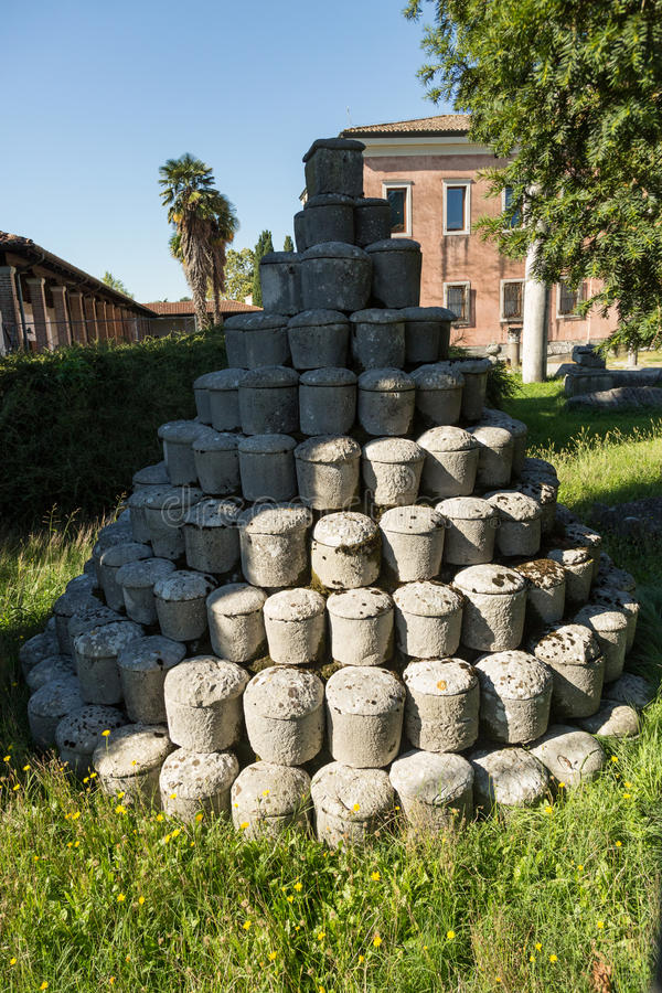 Funerary urns stock photos