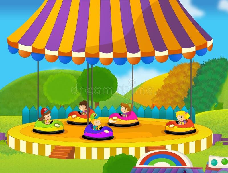 Funfair royalty-vrije illustratie