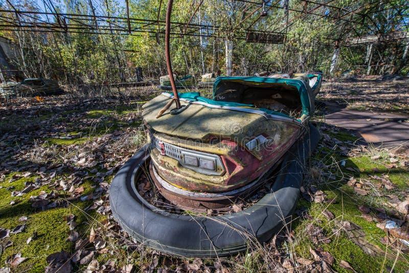 Funfair de Pripyat fotos de archivo