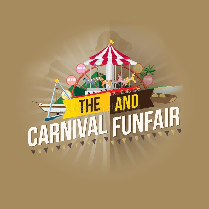 Funfair del carnaval libre illustration