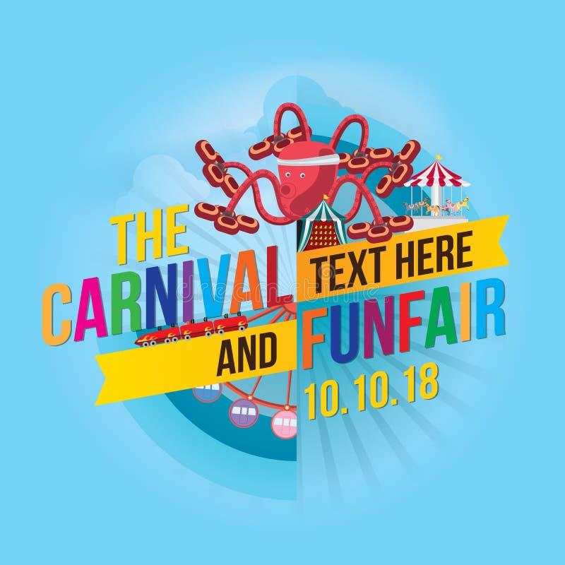 Funfair do carnaval ilustração stock