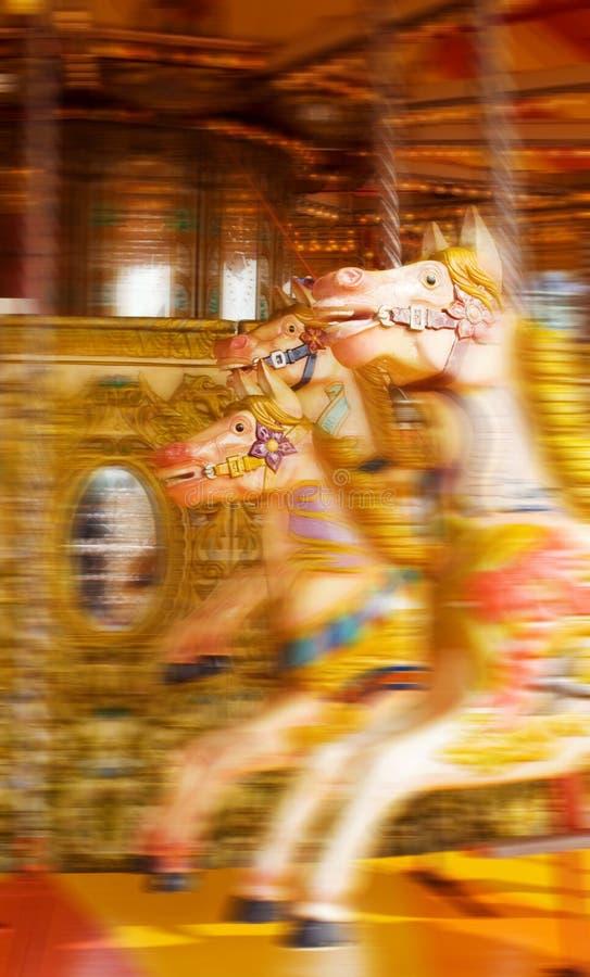 Funfair horse carousel stock photo