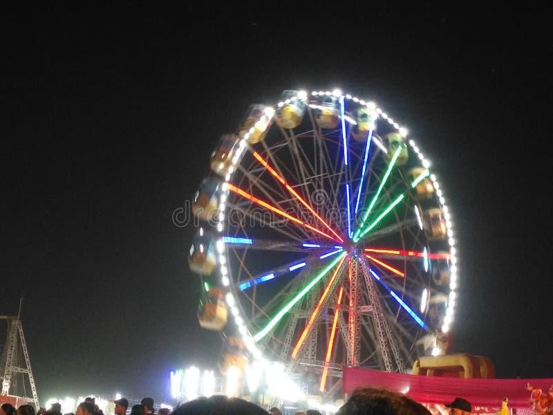 Funfair i Indien arkivfoto