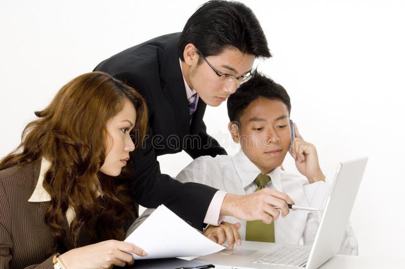 Fungerande affärsgrupp arkivfoton