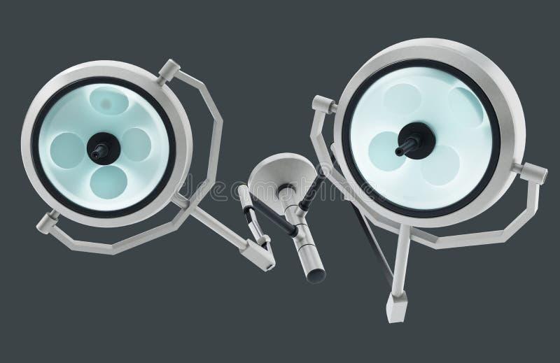 Fungerande ljus som isoleras på grå bakgrund illustration 3d vektor illustrationer