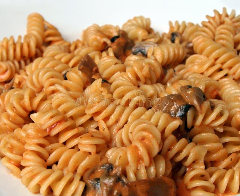 Funghi di Fusilli fotografia stock
