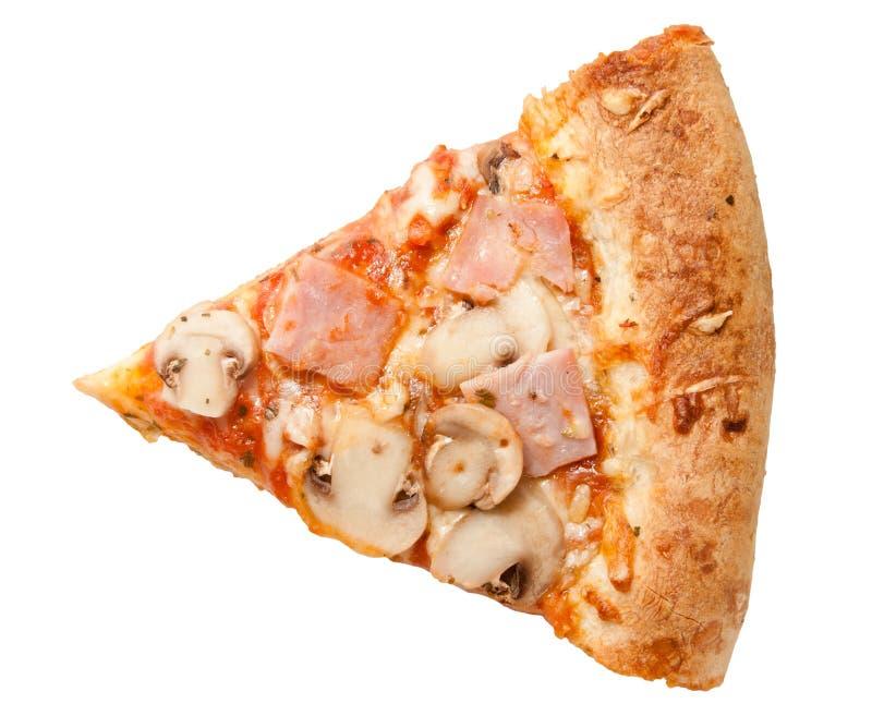 Funghi di prosciutto della pizza immagini stock libere da diritti